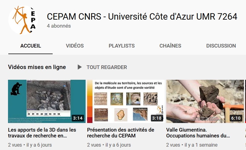Le CEPAM crée sa chaine YouTube